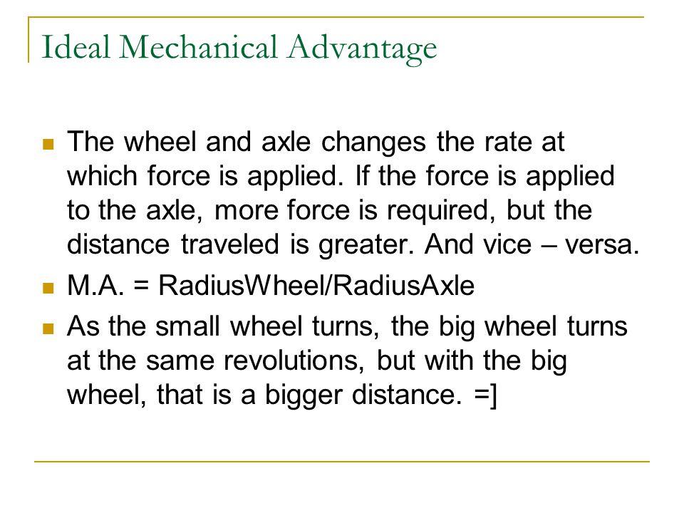 Ideal Mechanical Advantage