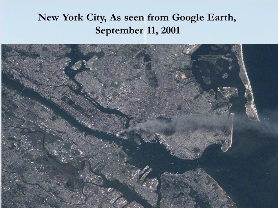 New York City, As seen from Google Earth,