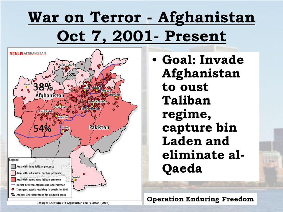 War on Terror - Afghanistan Oct 7, 2001- Present