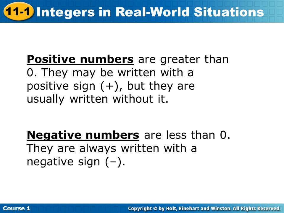 Positive numbers are greater than 0