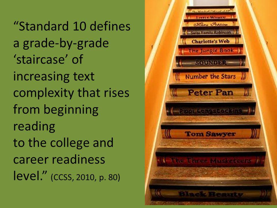 Standard 10 defines a grade-by-grade