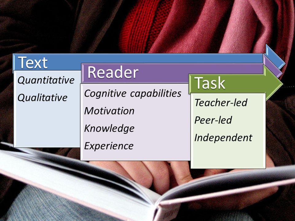 Text Reader Task Quantitative Qualitative Cognitive capabilities