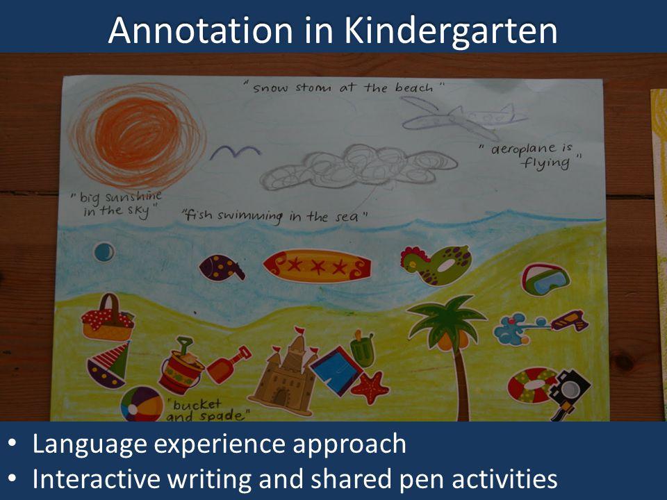 Annotation in Kindergarten
