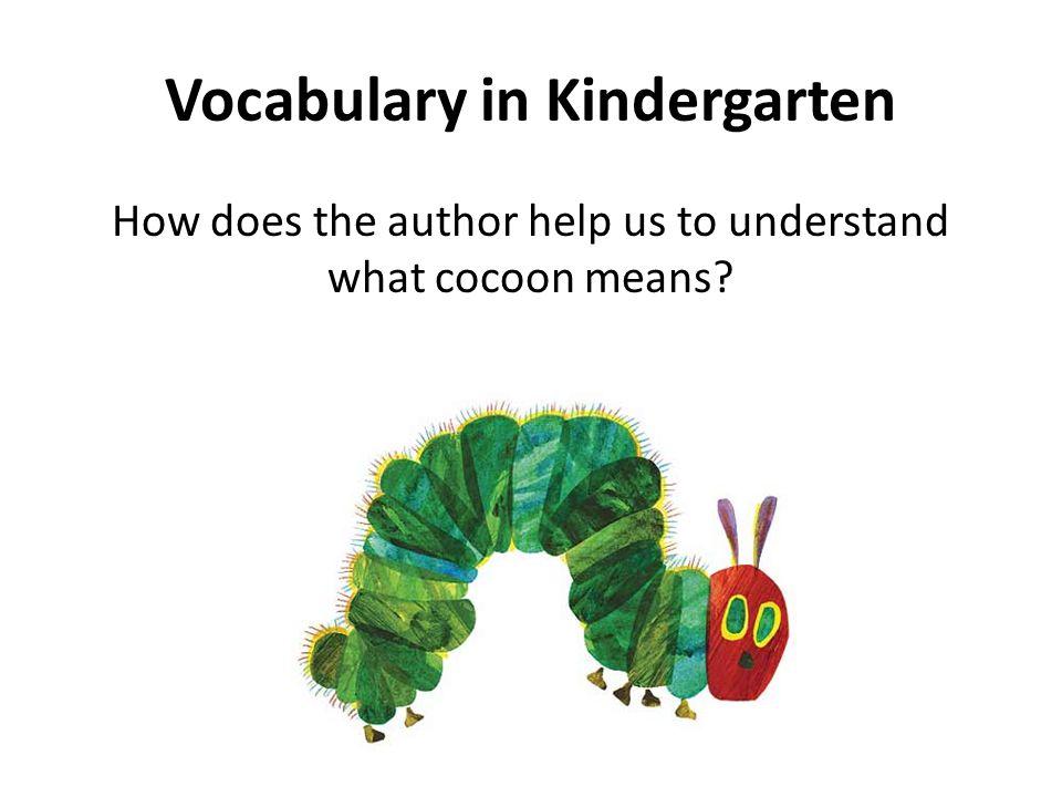 Vocabulary in Kindergarten
