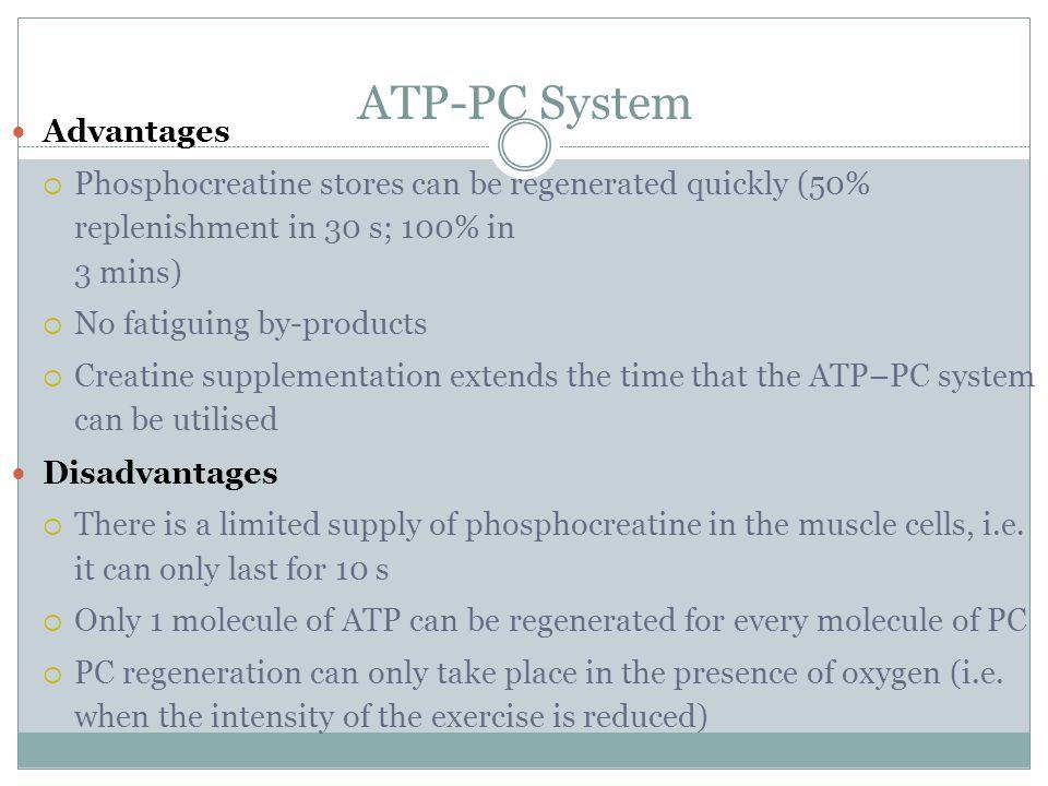 ATP-PC System Advantages