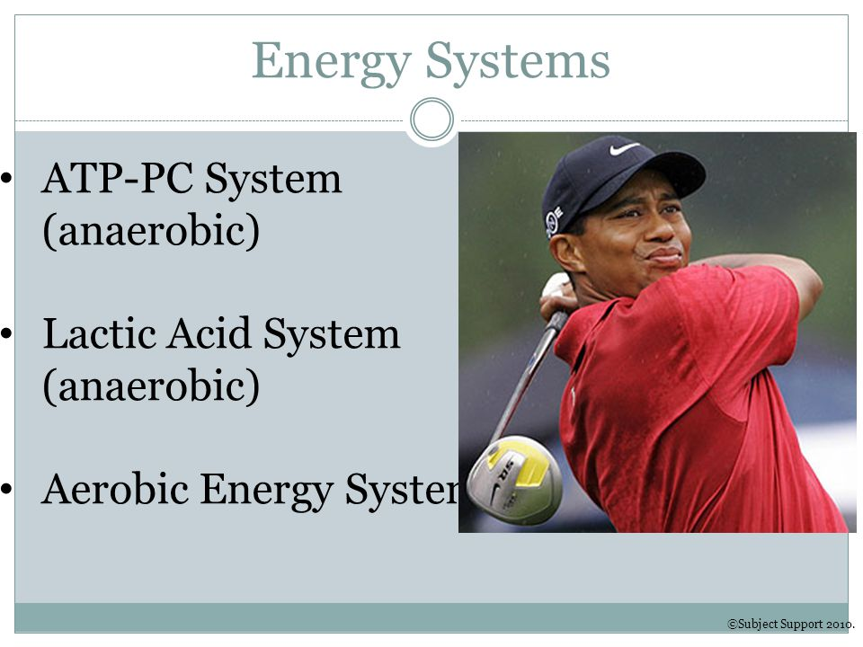 Energy Systems ATP-PC System (anaerobic)