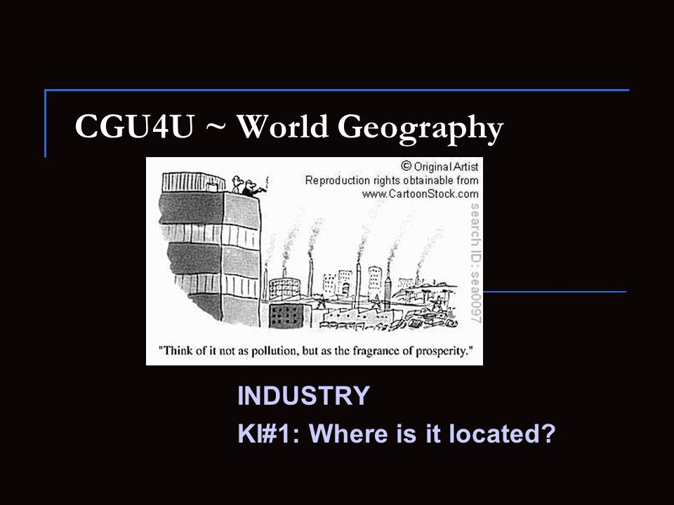 INDUSTRY KI#1: Where is it located