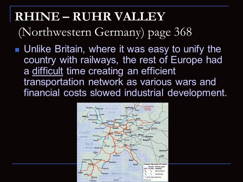 RHINE – RUHR VALLEY (Northwestern Germany) page 368
