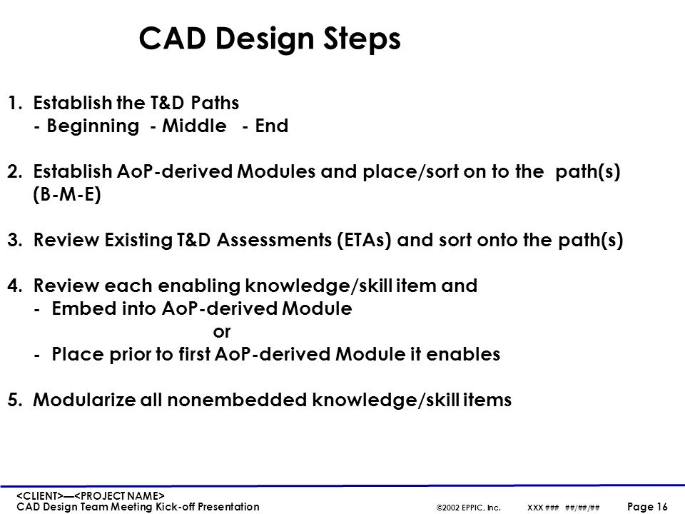 CAD Design Steps (continued)