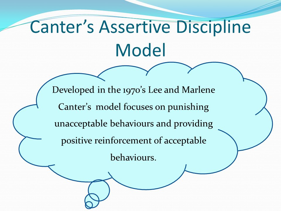 Canter's Assertive Discipline Model