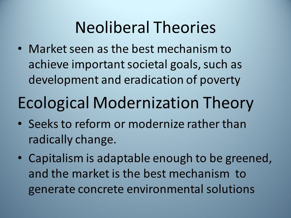 Ecological Modernization Theory