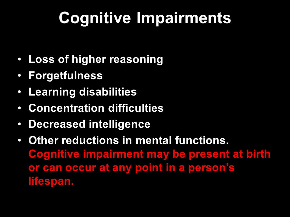 Cognitive Impairments