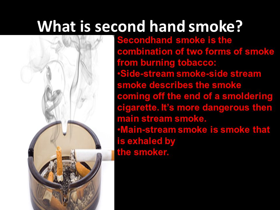 What is second hand smoke