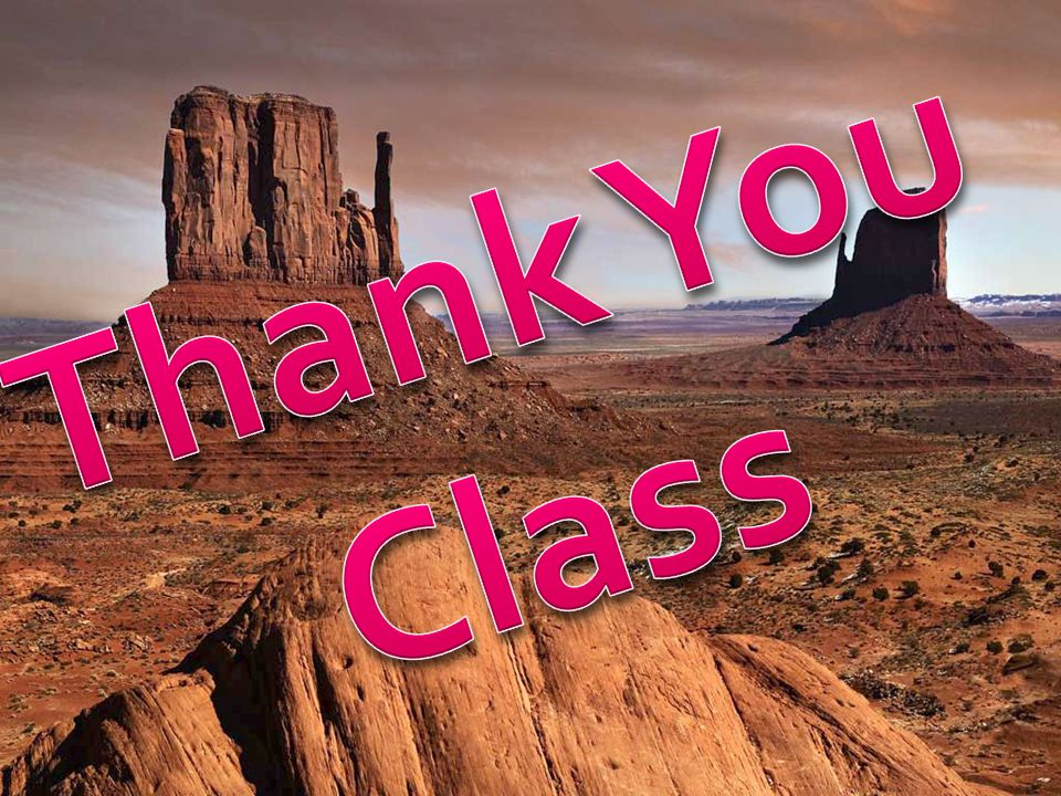Thank You Class