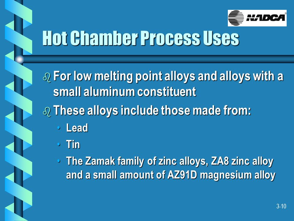 Hot Chamber Process Uses
