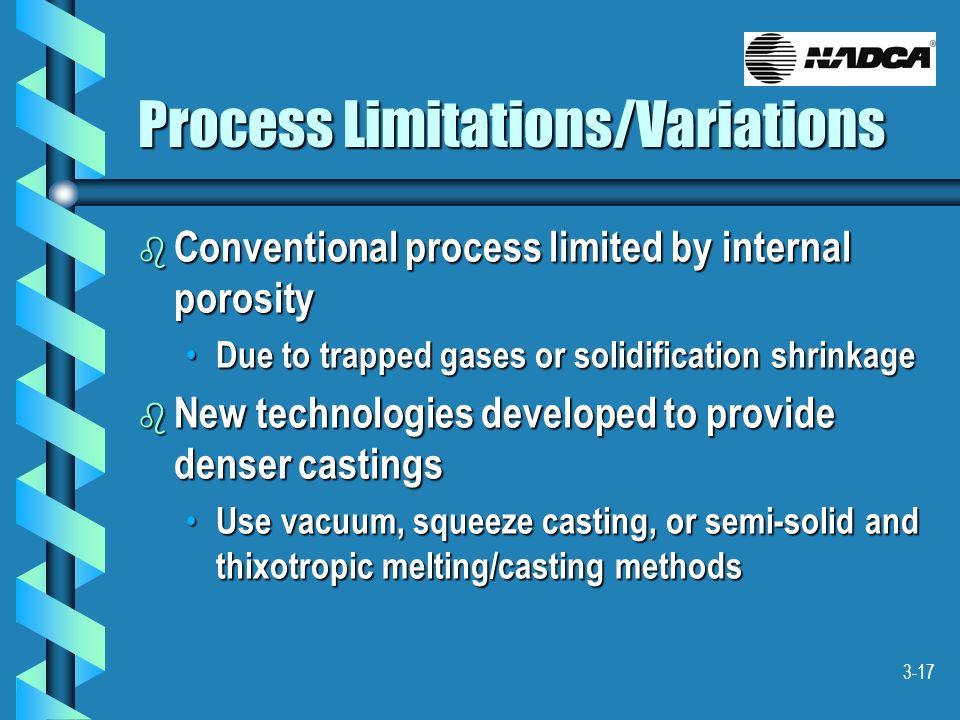 Process Limitations/Variations