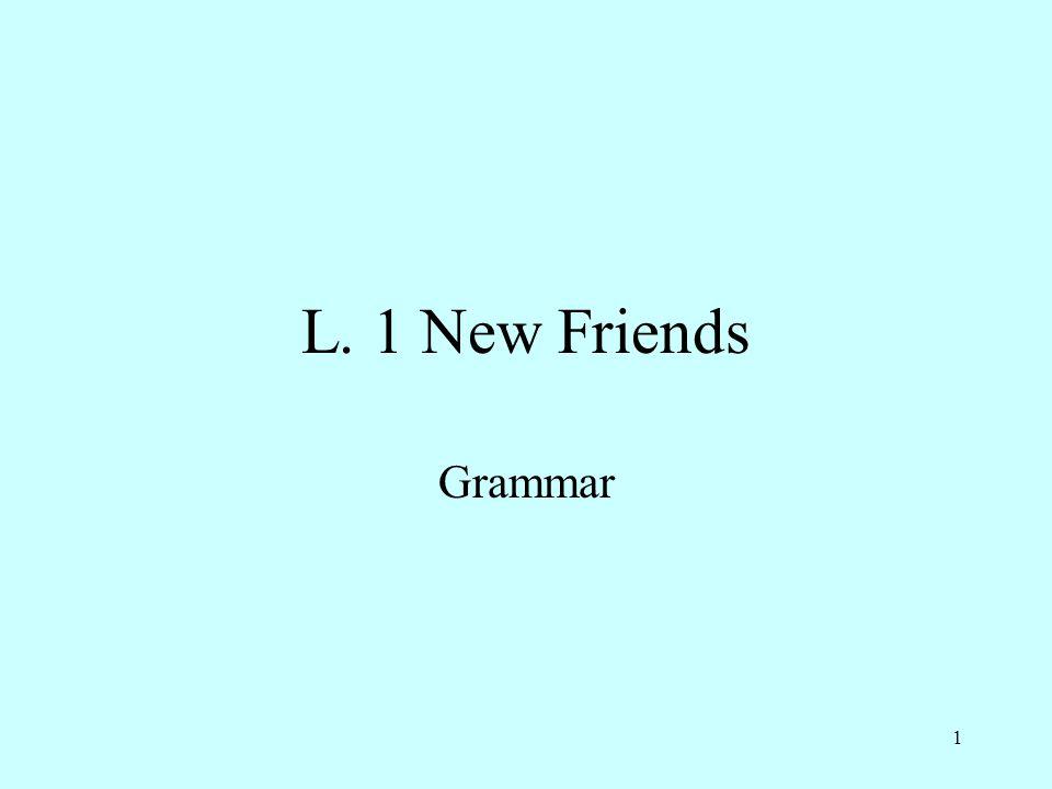 L. 1 New Friends Grammar