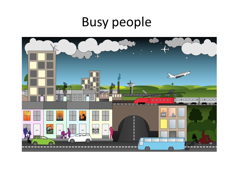 Busy people