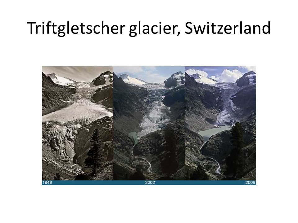 Triftgletscher glacier, Switzerland