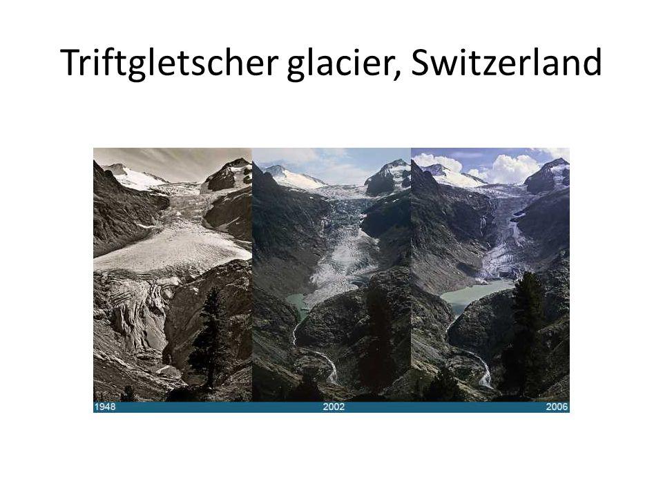 Triftgletscher glacier, Switzerland