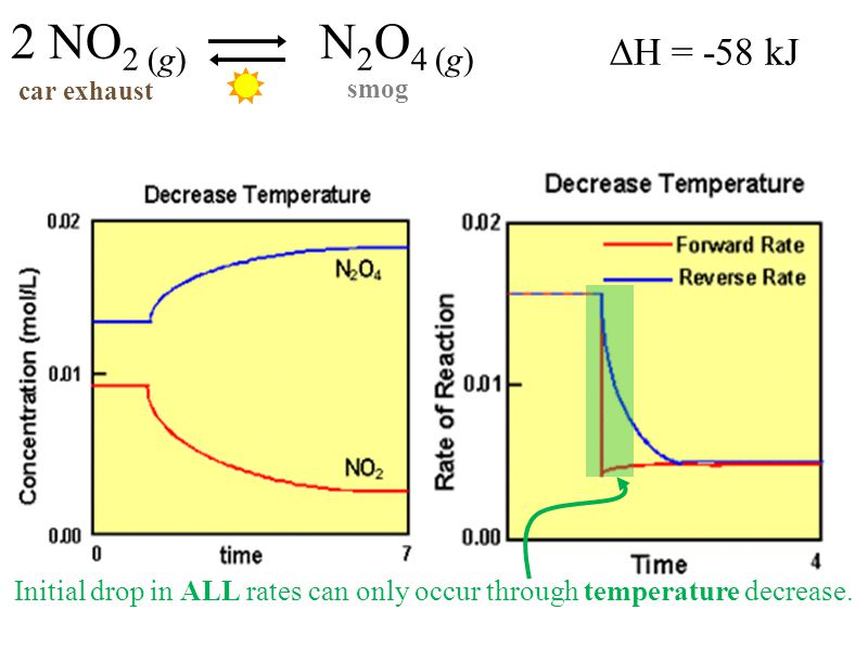 Initial drop in ALL rates can only occur through temperature decrease.