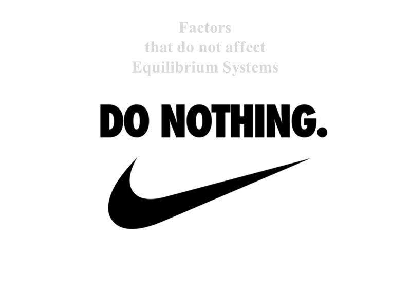 Factors that do not affect Equilibrium Systems