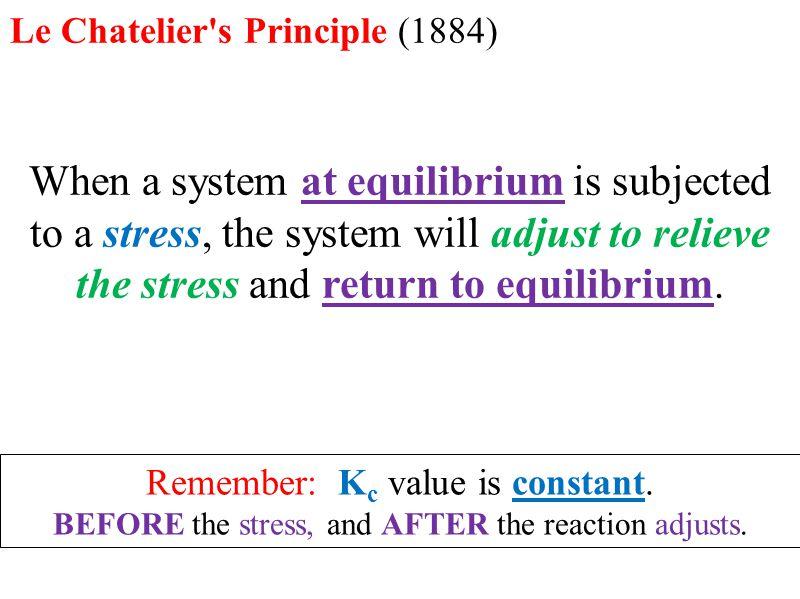 Le chatelier 39 s principle ppt download for Le stress