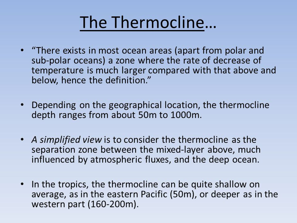 The Thermocline…