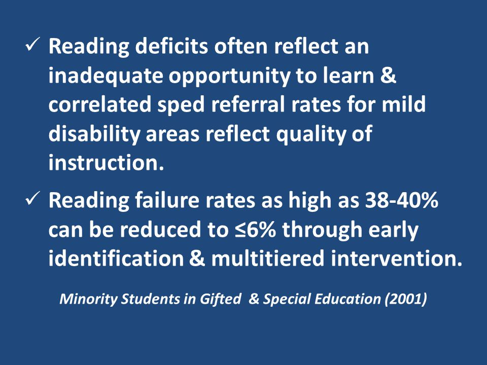 Minority Students in Gifted & Special Education (2001)