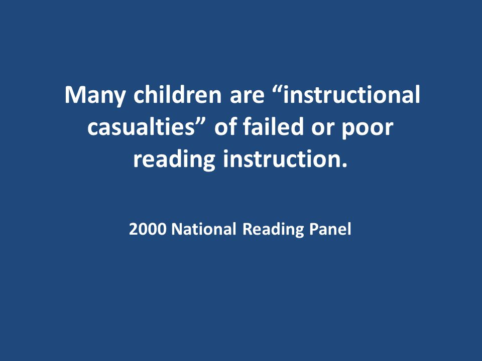 2000 National Reading Panel