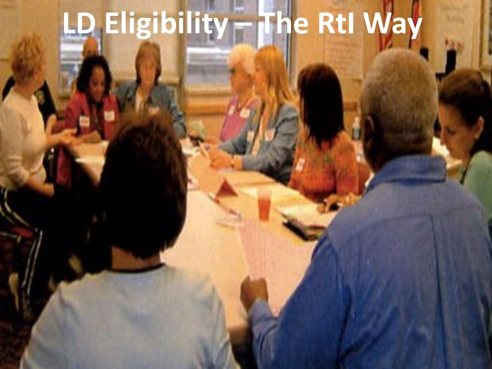 LD Eligibility – The RtI Way