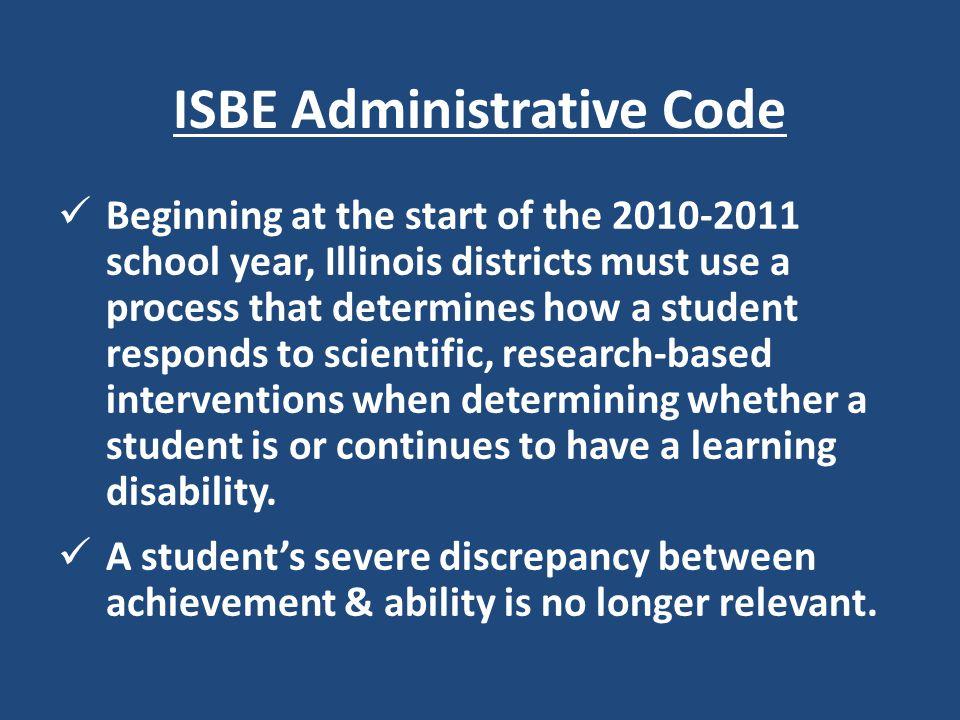 ISBE Administrative Code