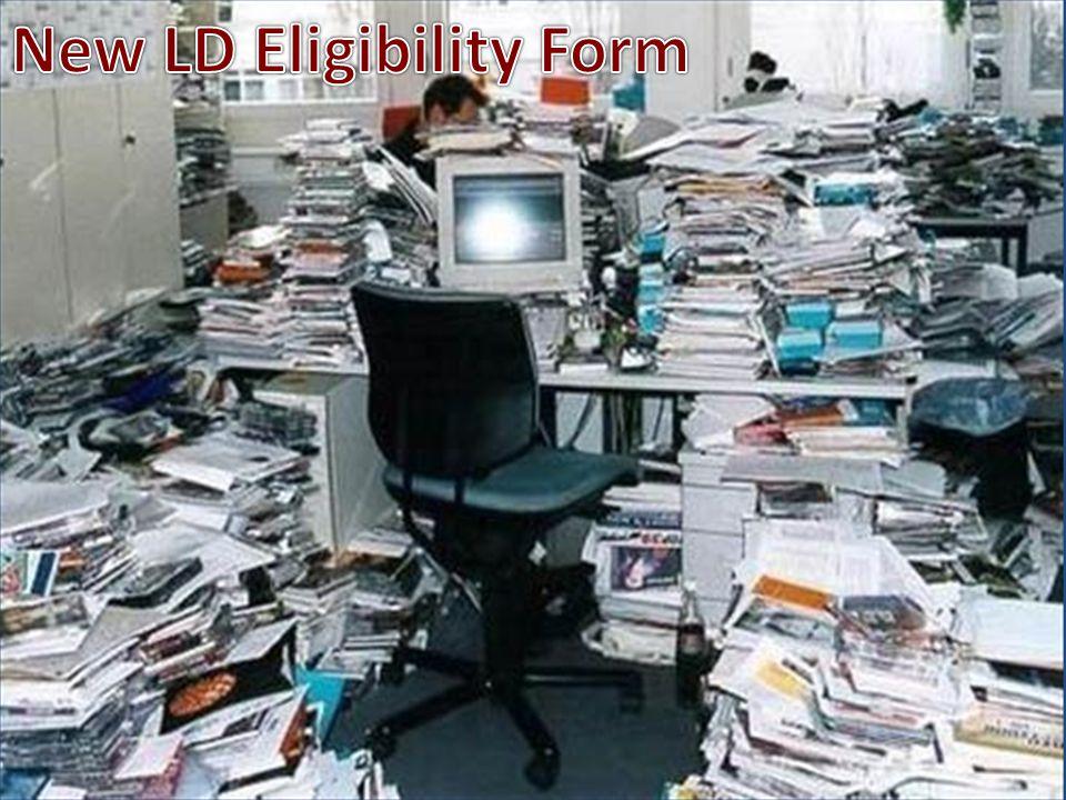 New LD Eligibility Form