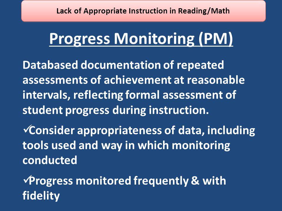 Progress Monitoring (PM)
