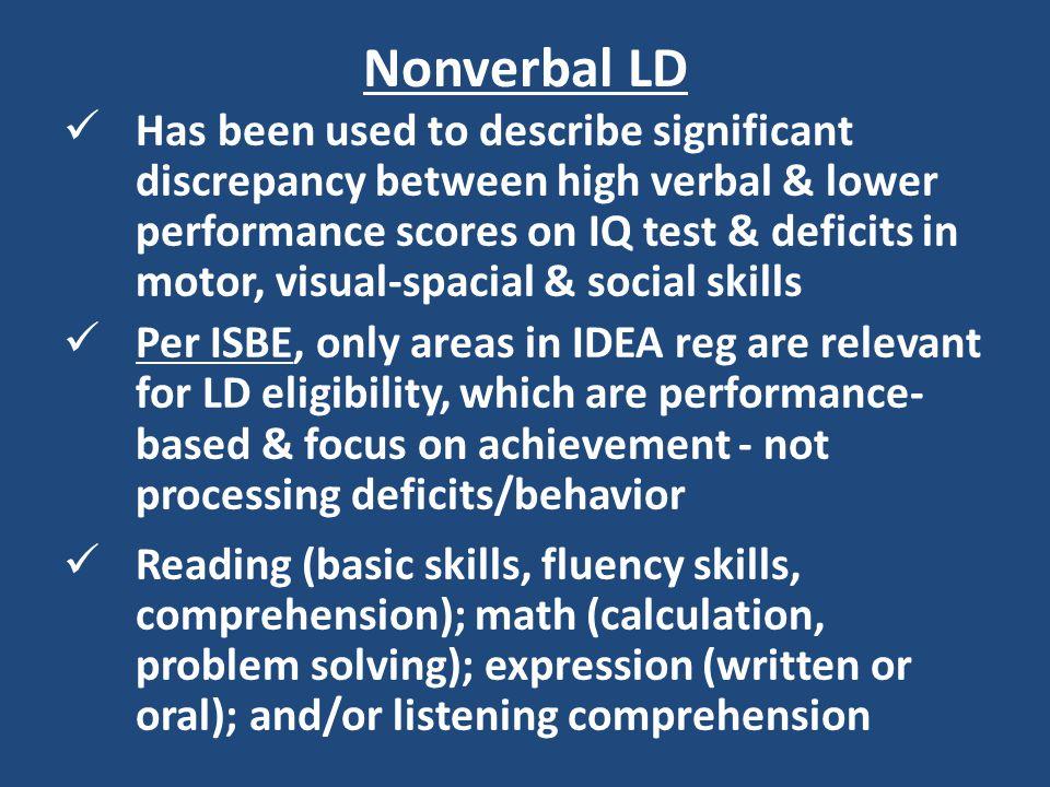 Nonverbal LD