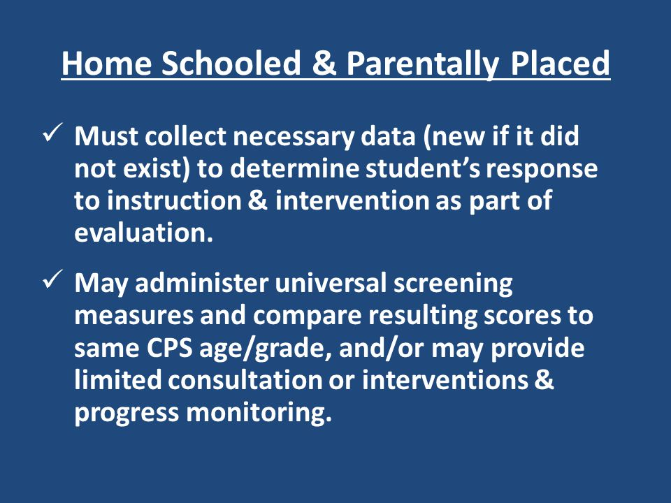 Home Schooled & Parentally Placed