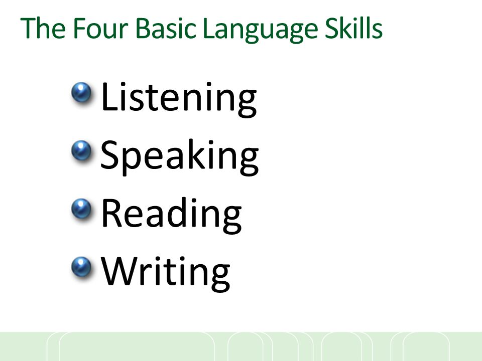 The Four Basic Language Skills