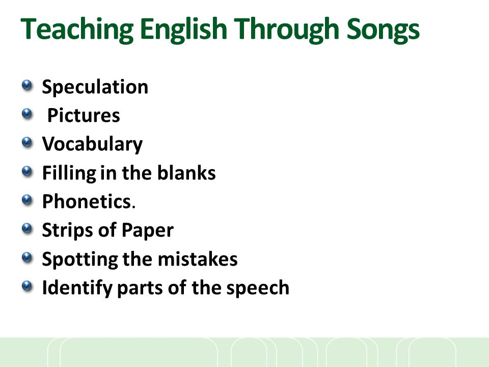 Teaching English Through Songs