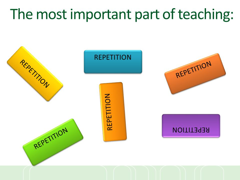 The most important part of teaching: