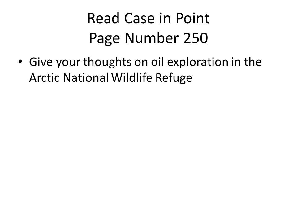 Read Case in Point Page Number 250