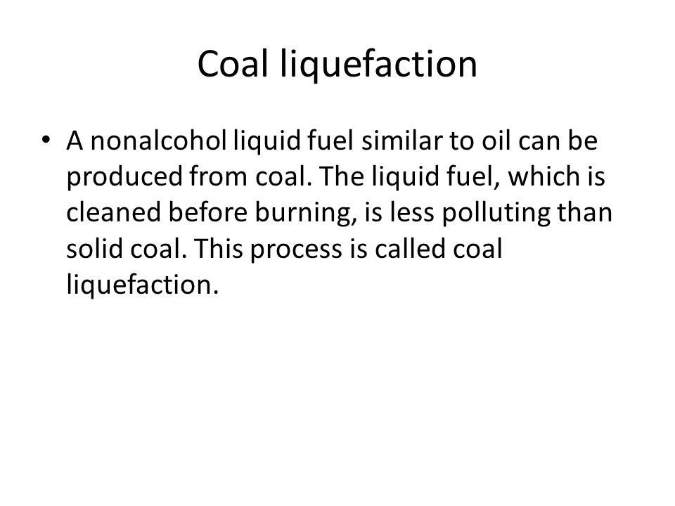 Coal liquefaction