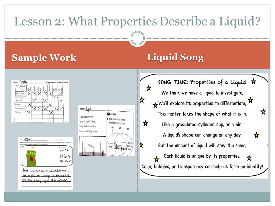 Lesson 2: What Properties Describe a Liquid