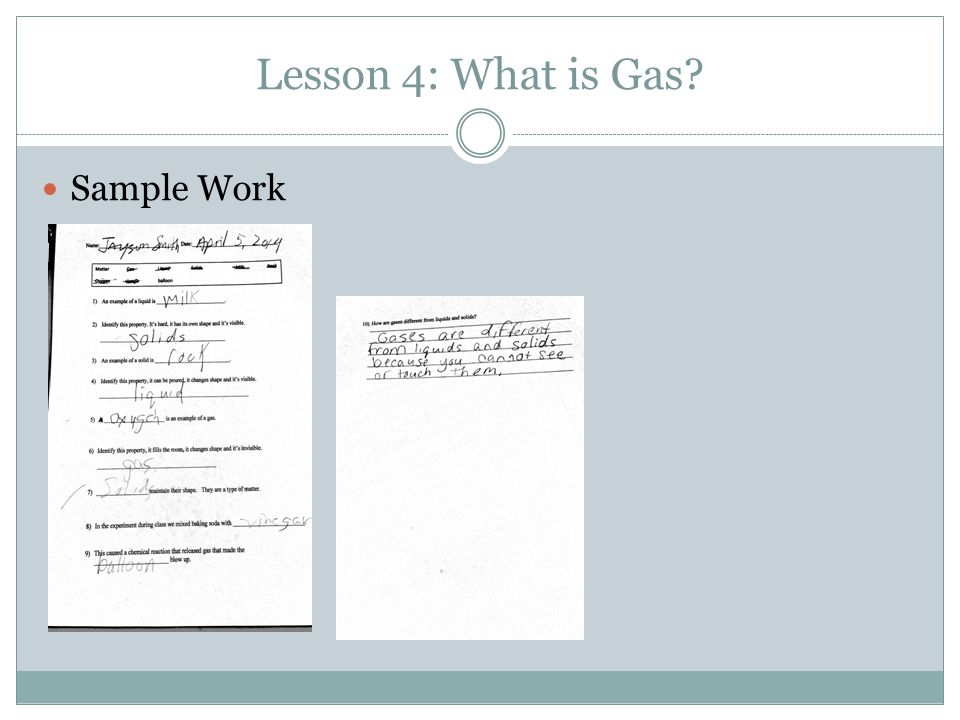Lesson 4: What is Gas Sample Work