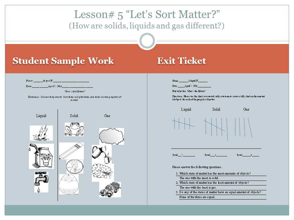 Lesson# 5 Let's Sort Matter
