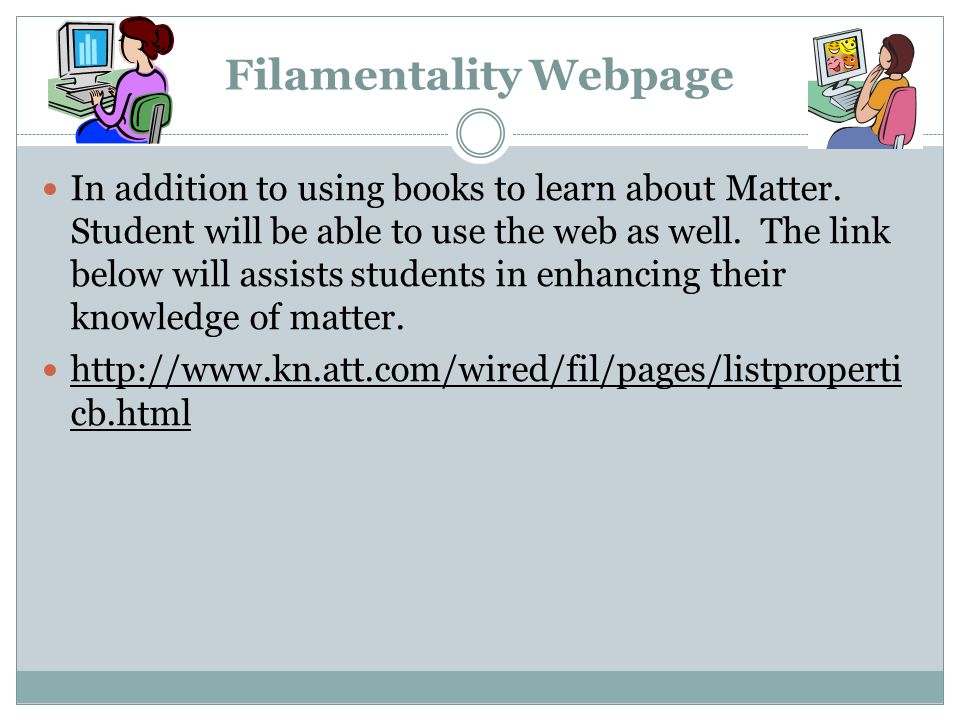 Filamentality Webpage