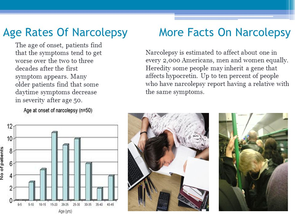 Age Rates Of Narcolepsy More Facts On Narcolepsy