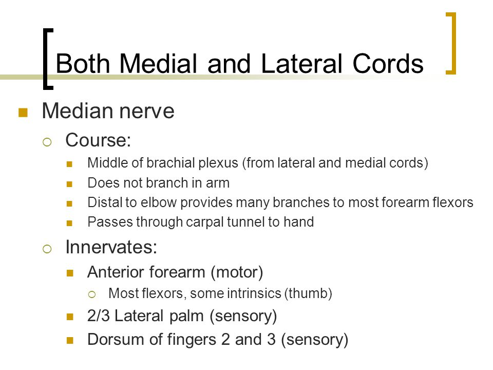 Both Medial and Lateral Cords