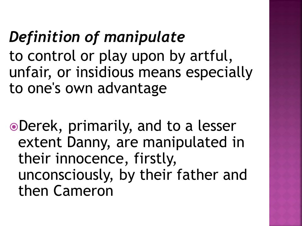 Definition of manipulate