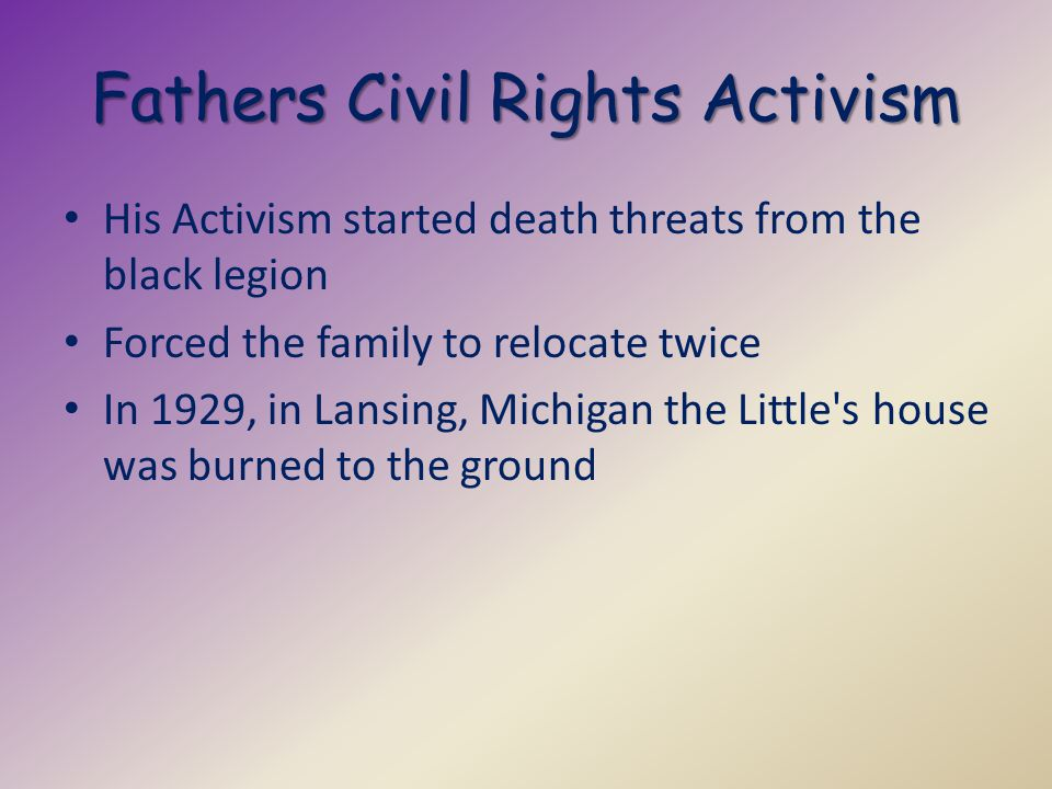 Fathers Civil Rights Activism
