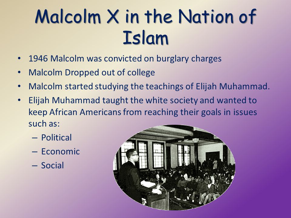 Malcolm X in the Nation of Islam